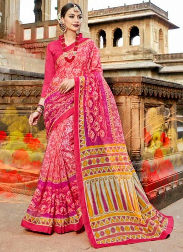 Kalista Kasturi Series 1851-1860 Supernet Fancy look Stylish Regular Wear Sarees Collection