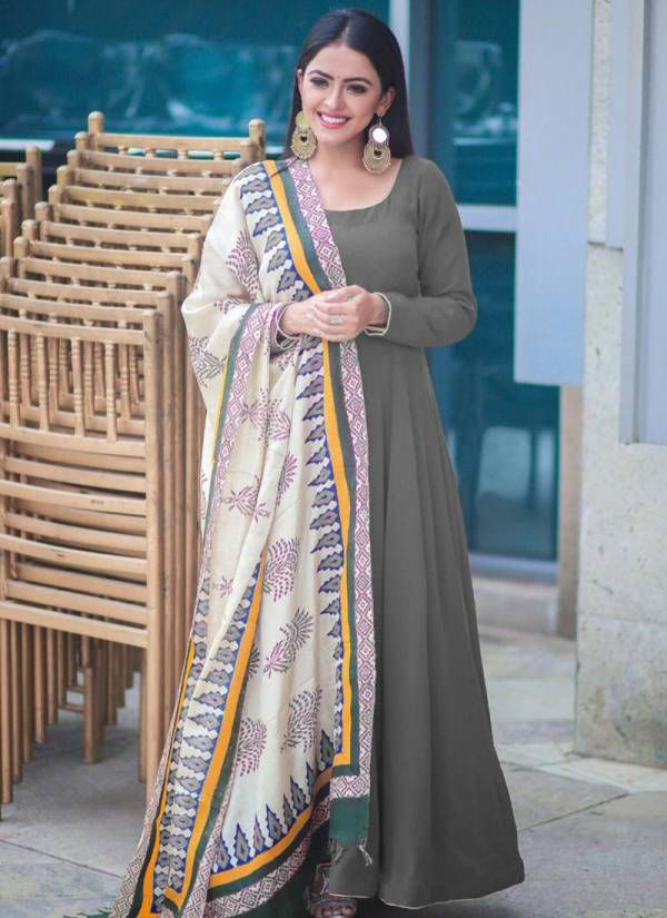 Designer Suits Rayon Cotton Festival Wear Ready Made Designer Anarkali Suits Collection