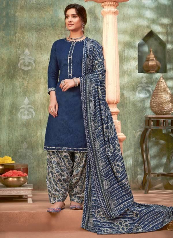 Alok Suit Naaz-E-Patiyala Series 517-001 - 517-010 Pure Wool Pashmina Jacquard With Lace Winter Season Suits Collection