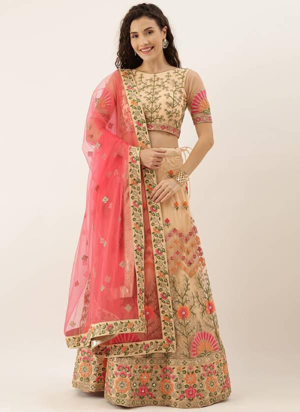 Kesari Exports Series 5234-5254 Satin Silk Georgette With Net Thread Gota Patti With Embroidery Mirror Work Exclusive Lehenga Choli Collection