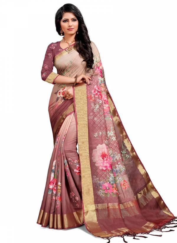 AJ Creation Amaya Series V-221 - V-232 Nylon Viscose With Zari Border & Pallu New Designer Sarees Collection