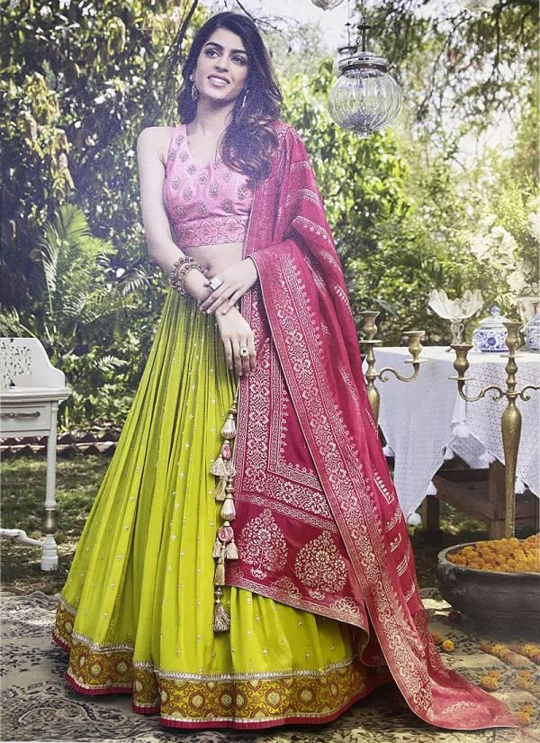 Ashish Series 01ASHISH-07ASHISH Fancy Fabric With Hand Work Exclusive Designer Wedding Wear Readymade Lehenga Cholis Collection