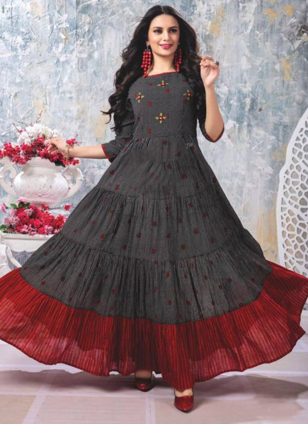 S4U Flairy Tales Vol 4 Series 401-405 Cotton Designer Stylish Look Casual Wear Flair Gowns Collection