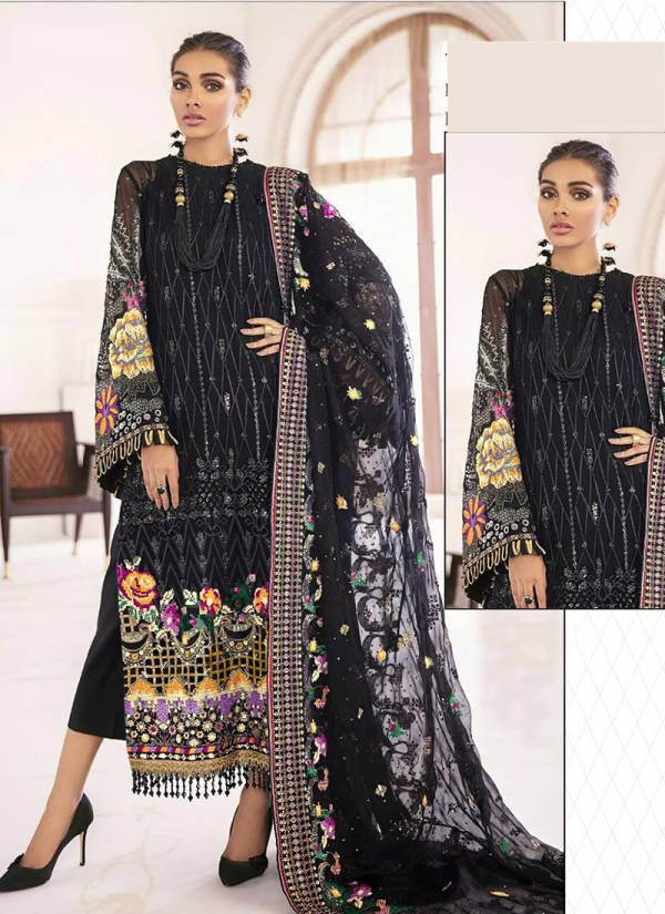 Noor Faux Georgette With Designer Self Embroidery Work Wedding Wear Designer Pakistani Suits Collection
