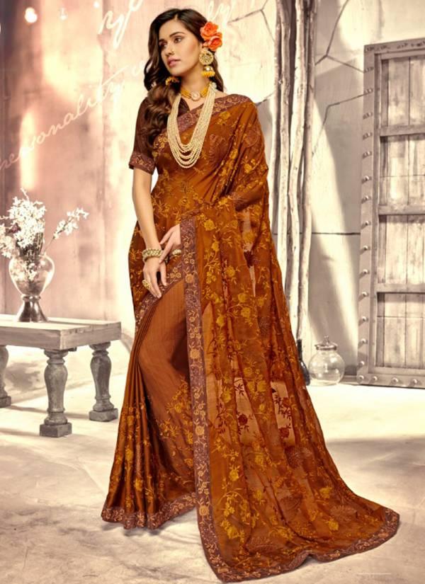 Kalishta Diana Series 55736-55770 Chiffon Embroidery Work Stylish & Designer Saree Collection