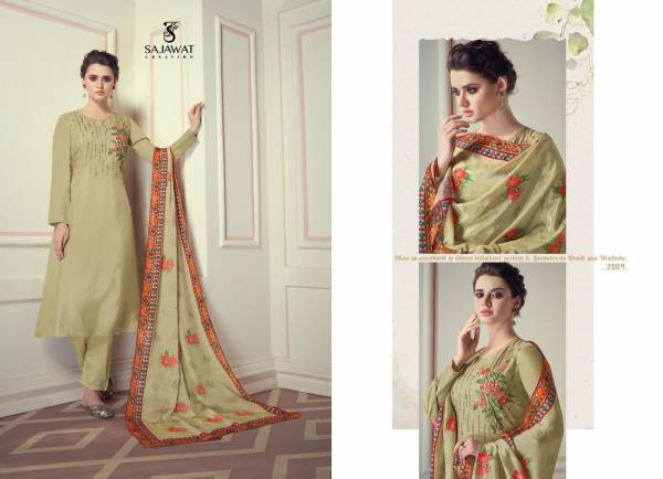 Sajawat Creation Royal Touch Vol 1 Pure Viscose Fancy Embroidery Work Readymade Designer Salwar Suits Collection