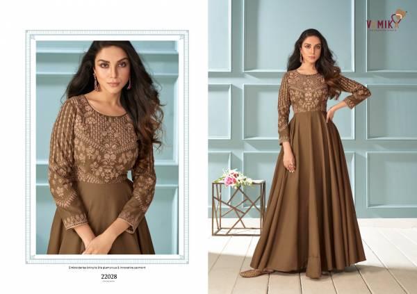 Vamika Amorina Vol-6 Maslin Silk Party Wear Gown Collection
