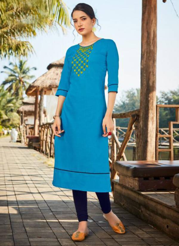 Kanika Anuroop Vol 4 Series AR29-AR38 Ruby Silk With Embroidery Work Office Wear New Fancy Straight Cut Kurtis Collection