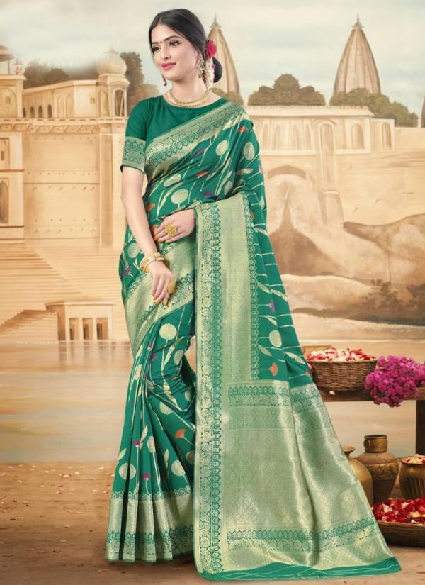 Shakunt Training  Art Silk Fancy Digital Work With Rich Pallu Wedding Wear Designer Sarees Collection