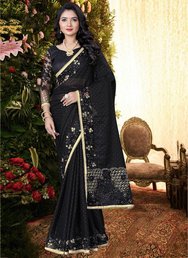Nari Fashion Qayamat Series 2651-2660 Fancy Silk Ribbon Flower & Sequence With Embroidery Work Party Wear Sarees Collection