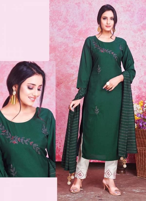 Smylee NX Mannat Series 1001-1008 Heavy Silk With Hand Work New Designer Straight Cut Kurtis With Dupatta Collection