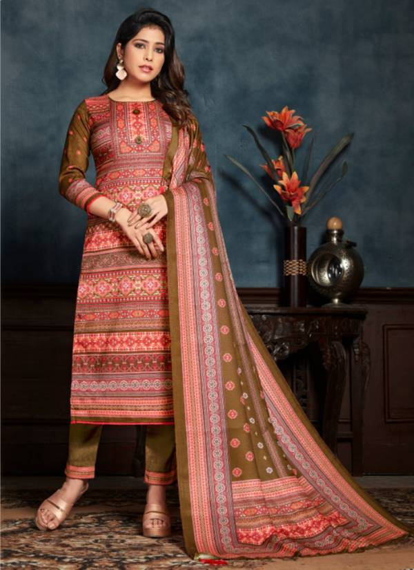 Bipson Roma Series 1088-1091 Woollen Pashmina Digital Printed New Designer Straight Suits Collection