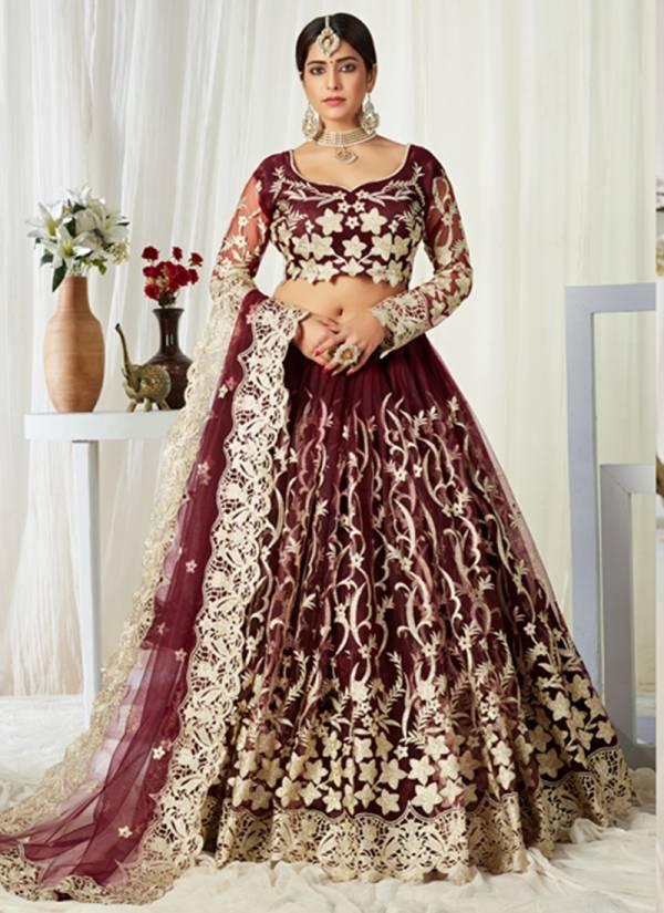 Aawiya Agnilekha Colours Vol 1 Butterfly Net With Heavy Embroidery Work Wedding Wear Lehenga Choli Collection