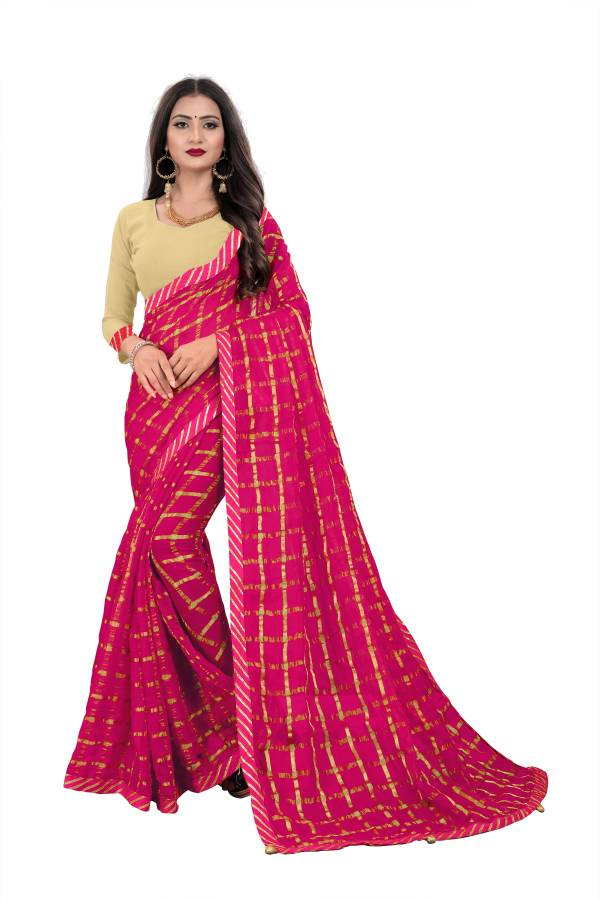 Chirag Series 01-05 Georgette Viscose With Fancy Latkan Designer Casual Wear Sarees Collection