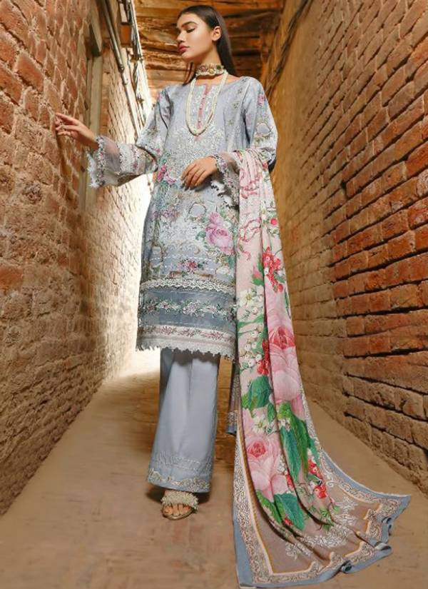 Shree Fab Exclusive Vol 14 Pure Lawn Cotton Print With Work Pakistani Suits Collection