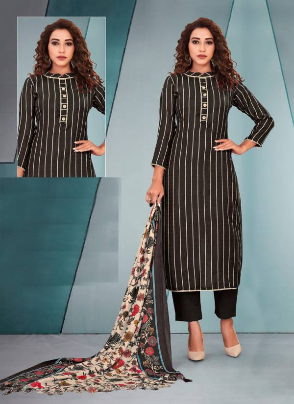 Bipson Lajoo Series 1202A-1202D Woollen Pashmina Print Winter Special Daily Wear Straight Suits Collection