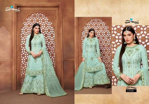 Your Choice Sequence Sharara Real Georgette With Fancy Work Sharara Suits Collection