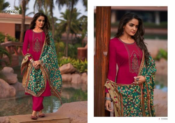 Shree Fab Chevron Jam Cotton Printed Designer Straight Suits Collection