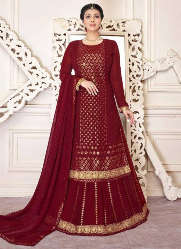 Lavina Vol 117 Series 117-117D Heavy Georgette With Embroidery Work Sequins Work Lehenga Suits Collection