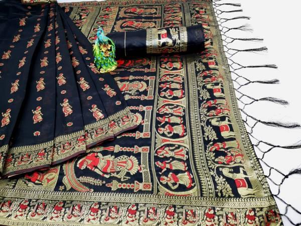 Shiv Enterprise Radha Soft Silk Fancy Jacquard Work Wedding Wear Designer Sarees Collection