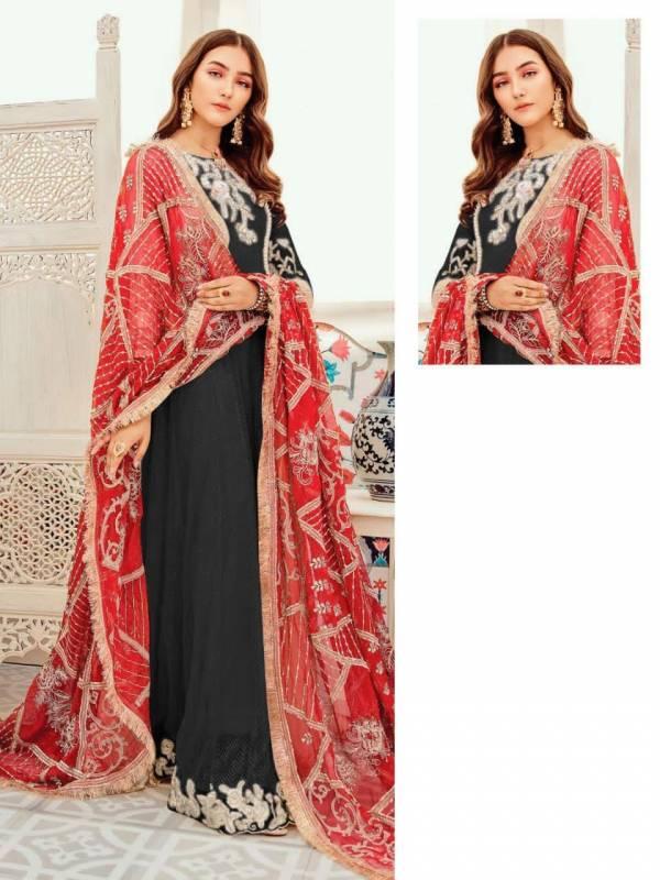 Saniya Trendz Series 41003-41003C Faux Georgette With Long Hand Work New Designer Wedding Wear Pakistani Suits Collection
