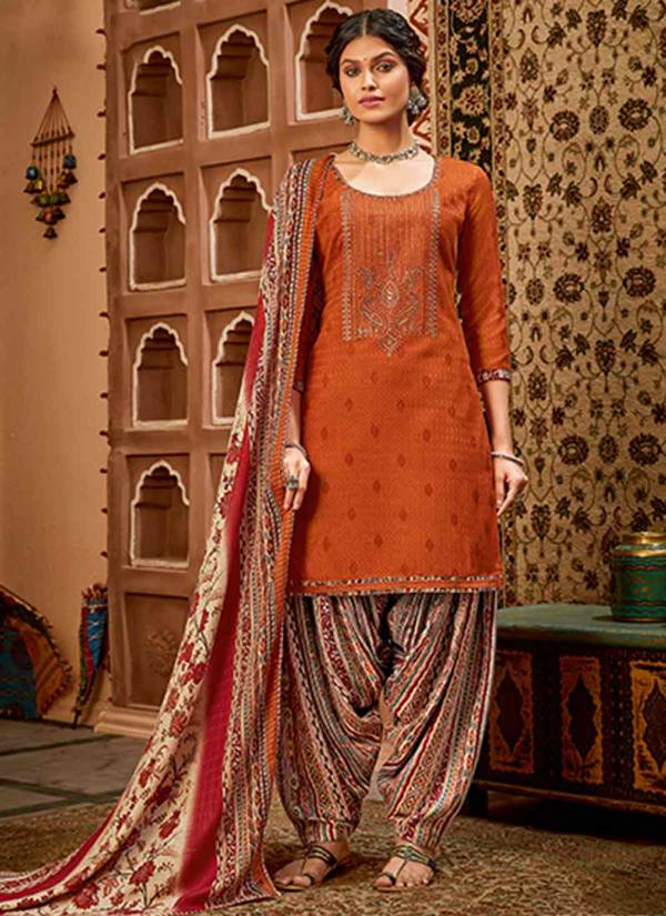 Alok Suit Shan-E-Punjab Series 533-001 - 533-010 Pure Pashmina Self Print With Exclusive Embroidery Work Winter Season Salwar Suits Collection