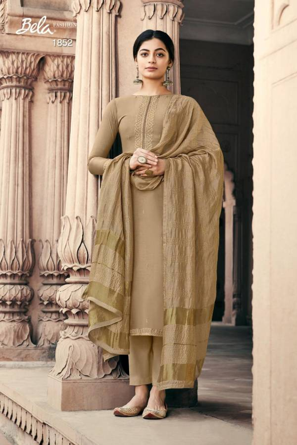 Bela Fashion Nazakat Series 1845-1853 Viscose Muslin With Embroidery Work Eid Special New Designer Palazzo Suits Collection