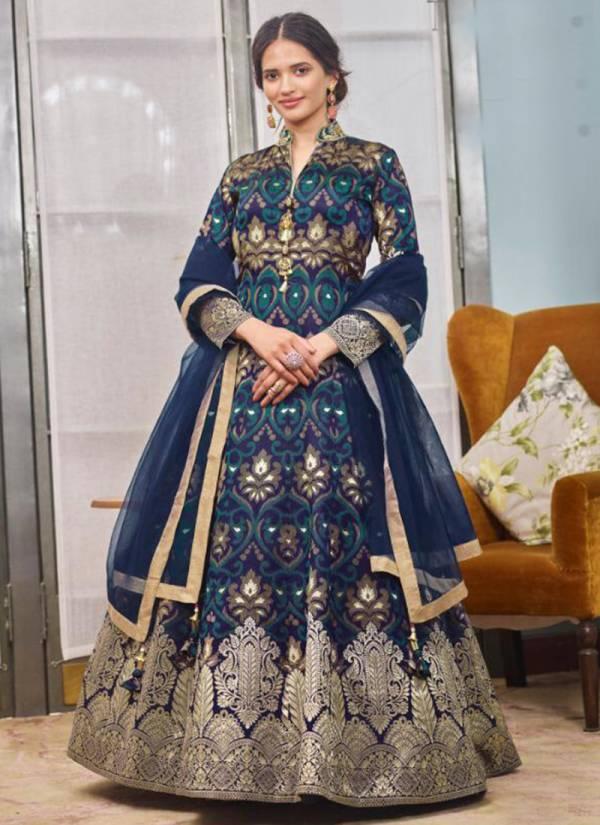Virasat Muskan Jacquard Designer Gown Collection