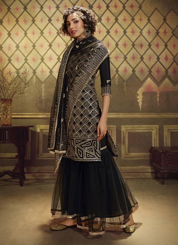 Arya Designer Noorani Saga Vol 2 Series 4901-4905 Soft Net With Sequins Work Designer Wedding Wear Sharara Suits Collection