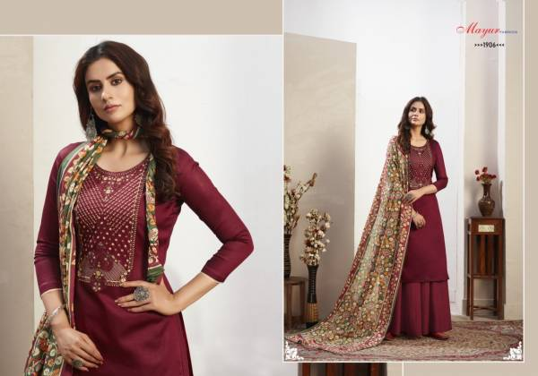 Hansa Muse Pure Jam Cotton Dimond  And Embroidery Work Festival Wear Designer Palazzo Suits Collection