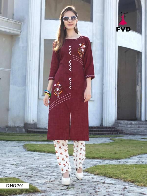 FVD City Girl Vol 3 Khadi Cotton Kurtis With Bottoms Collection