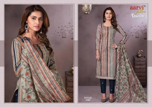 Aarvi Fashion  Aarvi Cotton Queen Vol 3 Pure Cotton Regular Wear Designer Suits Collection