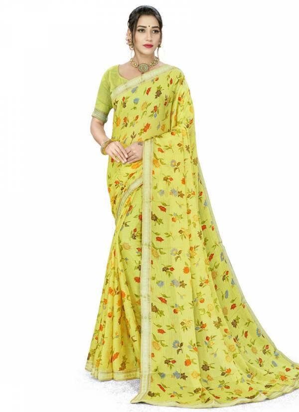 Rajeshree Ritasha Moss Chiffon Regular Wear Designer Sarees Collection