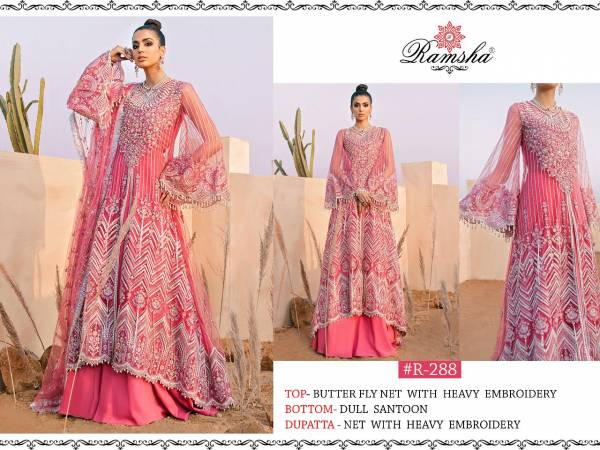 Ramsha Vol 6 Net With Heavy Designer Embroidery Work Pakistani Eid Special Suits Collection