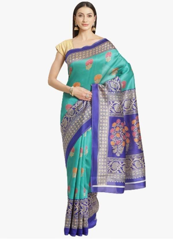 TE Bhagalpuri Silk Fancy Printed Party Wear Saree Collection