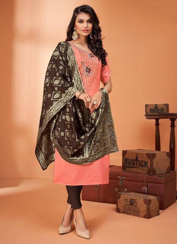 18 Attitude Odhni Vol 4 Series 7001-7007 Remi Checks Latest New Trendy Kurtis With Dupatta Collection