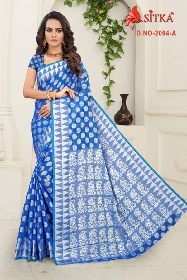 Kodas Sitka Belize Series 2094A-2094D Poly Cotton Weaving Latest Designer Wholesale Price Sarees Collection