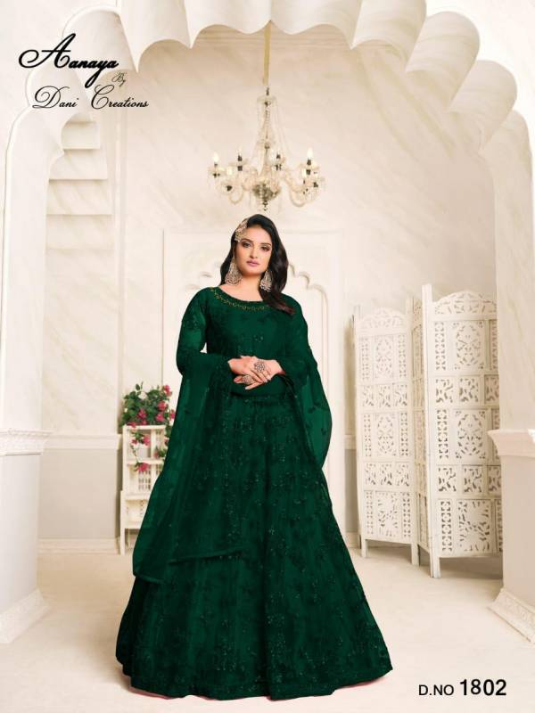 Dani Fashion Net With Heavy Embroidery Sequence Work Anarkali Suits Collection