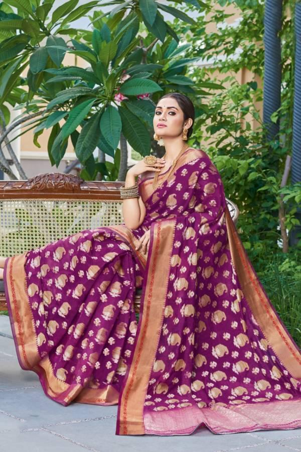 Sangam Prints Vasundhara Handloom Silk Latest Exclusive Sarees Collection