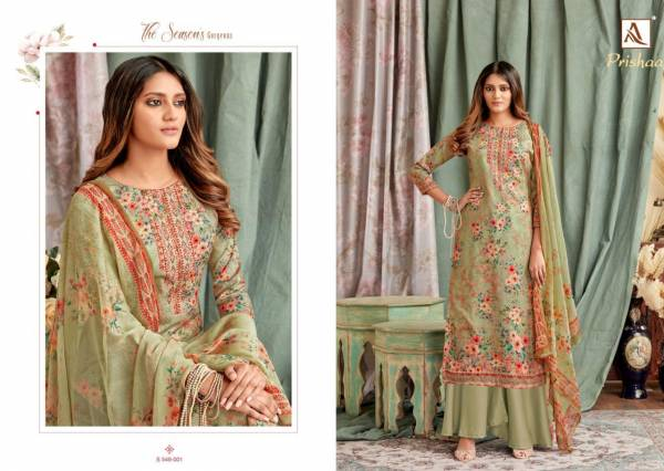 Alok Suit Prisha Cotton Swarovski Work  Palazzo Suits Collection