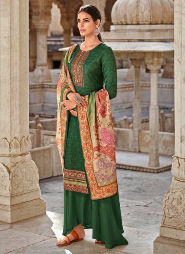 LT Nitya Pashmina Vol 5 Series 501-507 Winter Season Special Pure Pashmina Digital Print Casual Wear Suits Collection