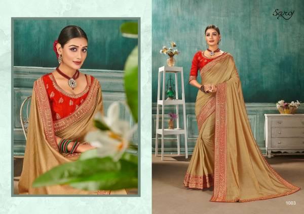 Saroj Nandini Vichitra Silk Wedding Wear Designer Sarees Collection