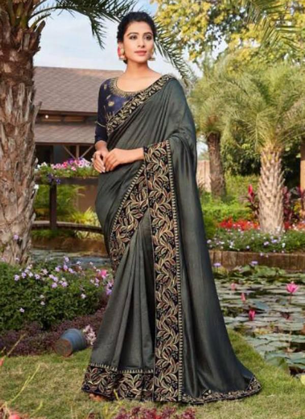 Kalista Fashion Vasudha Series 75001-75006 Vichitra Silk Designer Border Work Latest Sarees Collection