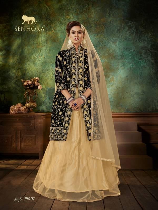 Senhora Dresses Zara Series 19001-19004 Velvet With Embroidery Fancy Work & Stone Work Heavy Wedding Wear Lehenga Suits Collection