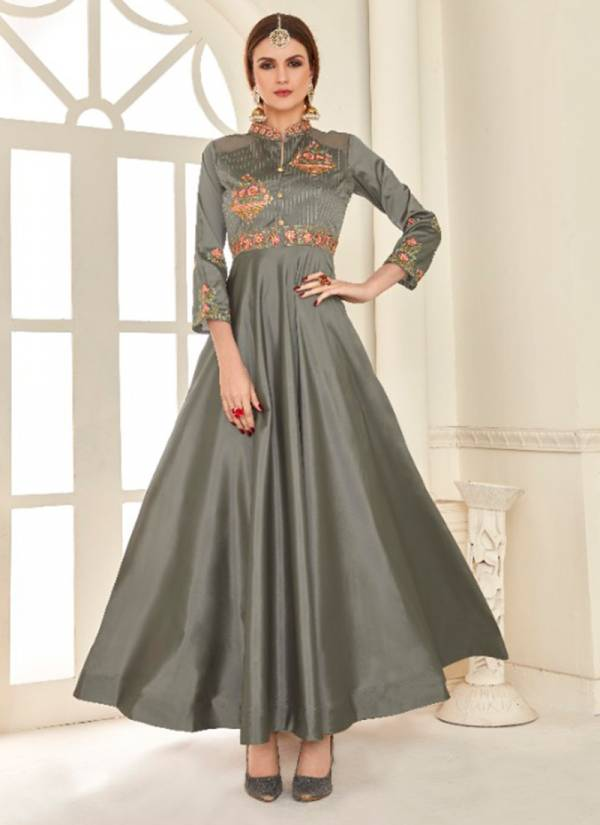 Shubh NX Amorina Series 1001SNA-1004SNA Soft Tapeta Silk With Heavy Embroidery Work Gorgeous Look Party Wear Gowns Collection