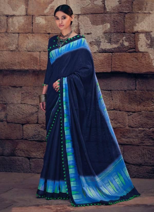 LT Fabrics Aurika Series 301-310 Cotton Silk With Pum Pum Border Festival Wear Sarees Collection