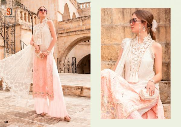 Shraddha Designer Maria B Sifli  Pure Cambric Cotton With Chicken Work And Heavy Embroidery Work Pakistani Suit Collection