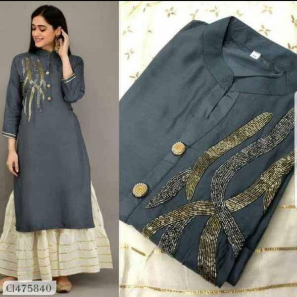 Ruhi Fashion Series CI475834-CI475841 Organic Jam Cotton With Hand Work Latest Designer Beautiful Kurtis With Fancy Skirts Collection