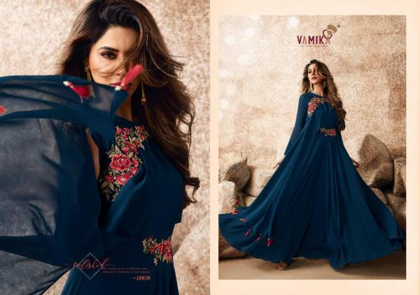 Vamika Sui Dhaaga Vol 3 Series 18017-18024 Semi Georgette With Fancy Heavy Embroidery & Diamond Hand Work Gown Collection