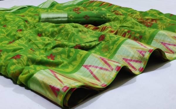 Nakshatra Fashion Studio Vol 12 Linen With Zari Weaving Fancy Reach Pallu Casual Wear Designer Sarees Collection